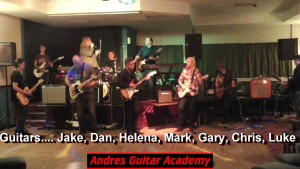 Classic Rock Medley 1960s to 1980s LIVE with 7 Student Guitars