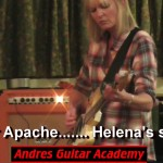 Student Helena Plays Lead Guitar On Shadows Classic Apache LIVE from Show #11